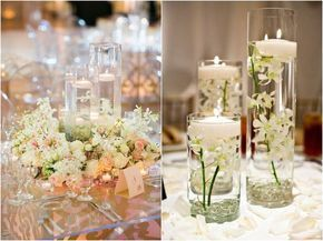 Hermosos+centros+de+mesa+con+velas+flotantes