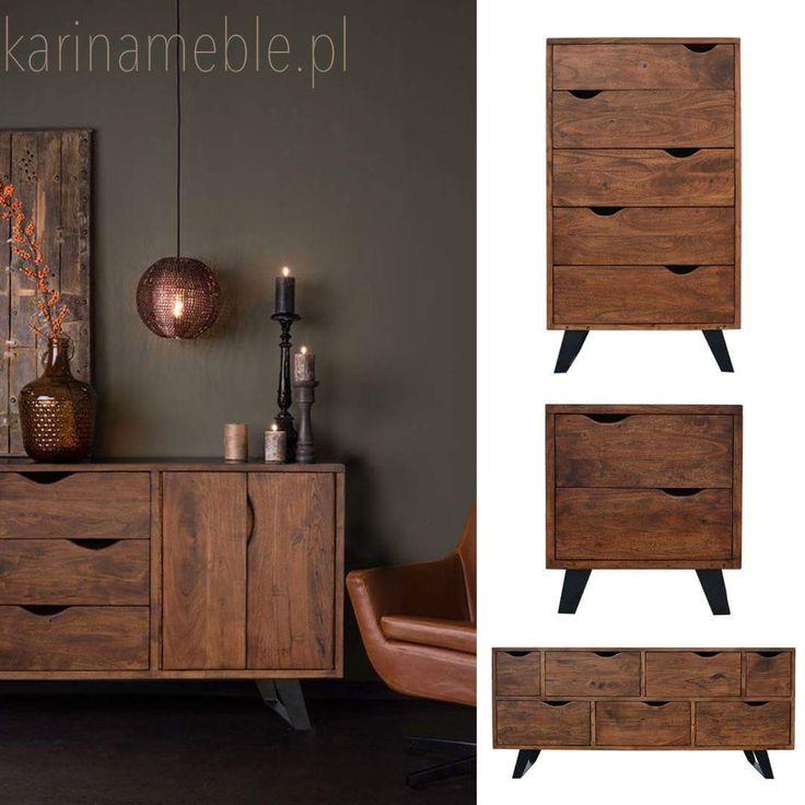 Kolekcja Organic Loft to seria mebli do nowoczesnych wnętrz. Połączenie drewna akacji i czarnego, matowego metalu wyglada elegancko i nadaje wnętrzu charakterystyczną industrialna nutę. w serii znajdziecie szafki rtv, komody, stoliki, łóżka, szafki nocne i wiele inne meble
