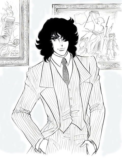 André Grandier in modern clothes---Kodemari art