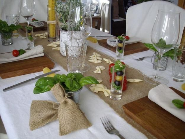 Find This Pin And More On Decor Italian Tuscan Themestyle Party Table  Decoration Ideas With Tuscan Table Setting Ideas