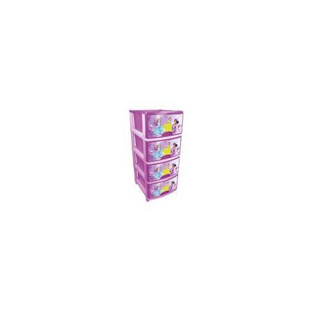 """Alternativa Комод """"Принцессы Дисней"""" 4-х секционный №1, Alternativa  — 1820р.  Характеристики:  • Предназначение: для детской комнаты • Пол: для девочки • Материал: пластик • Цвет: розовый, голубой, белый • Размер (Д*Ш*В):  48*38*98 см • Вес: 5 кг 300 г • Количество секций: 4 шт. • Тип ящиков: выдвижные, с ручками • В комплекте имеется инструкция по сборке • Форма: прямоугольный • Особенности ухода: разрешается мыть теплой водой  Комод (для девочек) 4-х секционный №1, Alternativa изготовлен…"""