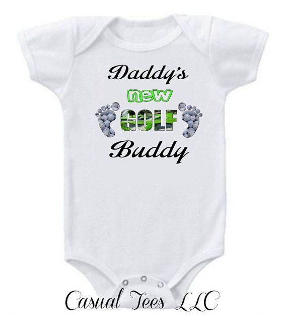 Daddy's New Golf Buddy Baby Bodysuit Baby Boy Baby by CasualTeeCo, $14.00