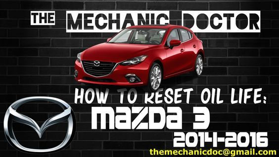This video will show you step by step instructions on how to reset your oil life indicator on a Mazda 3 2014-2016