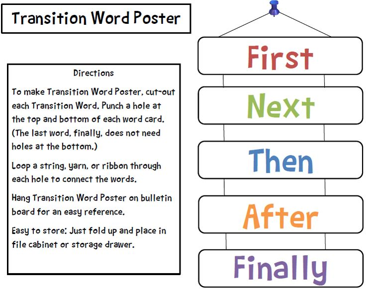 8 best images about Sequence Words / Transitional Words on ...