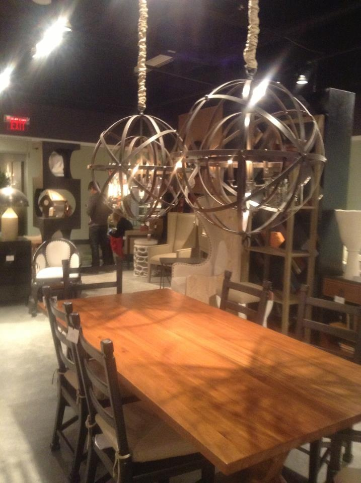 XL Lighting and Statement Dining Tables from the Noir Furniture showroom in Las Vegas
