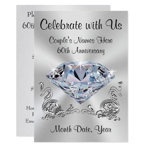Diamond Wedding Invitation Label: 25+ Unique 60th Anniversary Gifts Ideas On Pinterest
