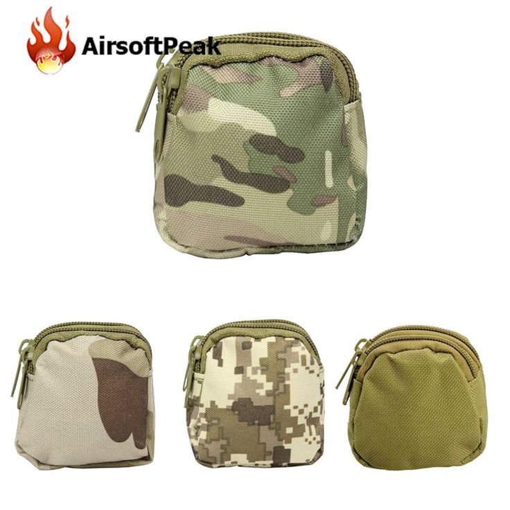 AIRSOFTPEAK Molle Tactical EDC Pouches Money Coin Pouch Military Wallet Sundries Bag Outdoor Hunting Small Mini Bags