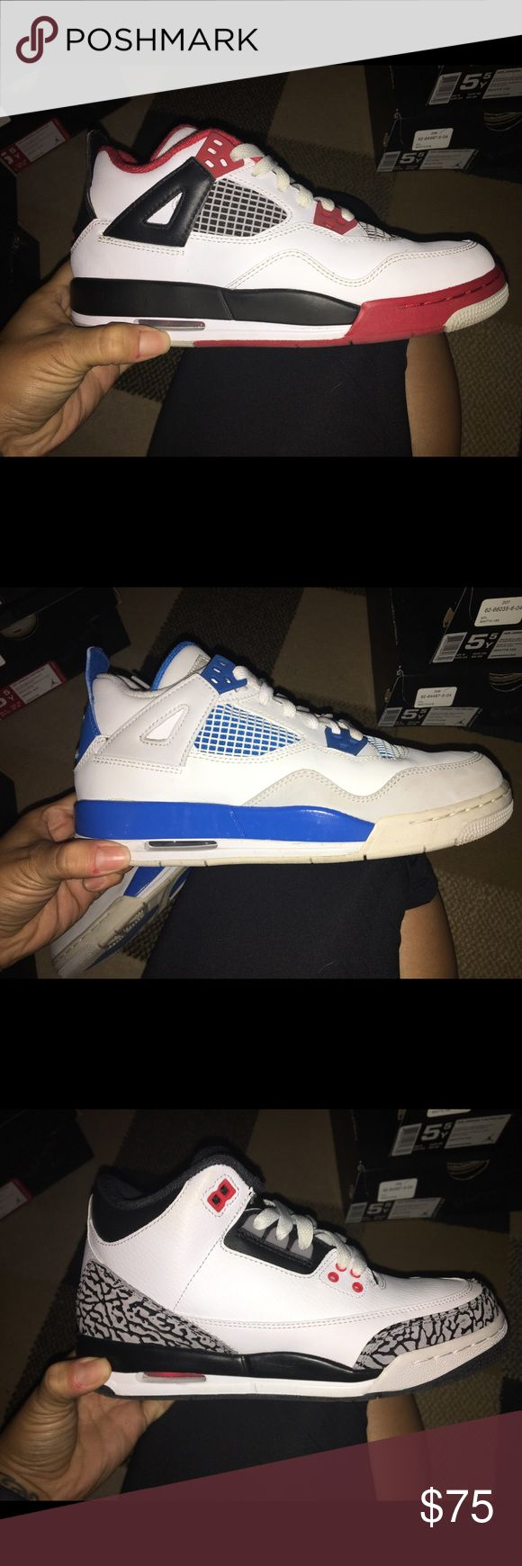 Authentic Jordan Sneakers 5.5Y Size 5.5Y - size 7 womens - with original box - like new - $75 each - additional pictures provided upon request. Jordan Shoes Athletic Shoes
