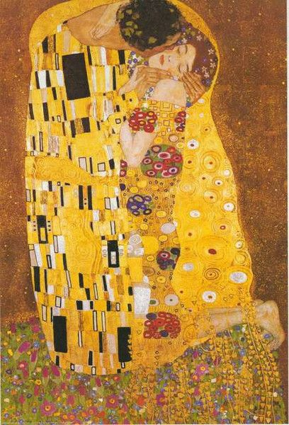 A beautiful poster of Gustav Klimt's famous painting The Kiss (1909), a high point of the Golden Age of Symbolist Art. Fully licensed. Ships fast. 24x36 inches. We have a fabulous selection of Gustav