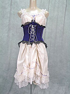 LGE SALOON GIRL COSTUME UNDIES WITH CORSET ATTACHED