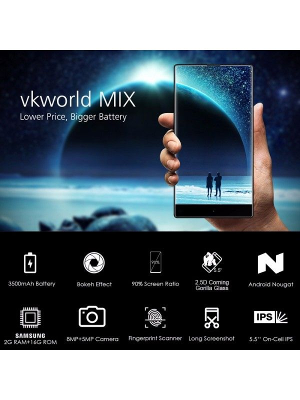VKworld MIX Android Phone (Blue)