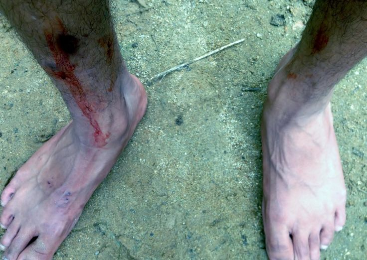 After walking close to 7 kms when we finally got the chance to see our legs. It was like this. Thanks to dear leeches for extracting all the impure blood of our bodies. It was real fun :p