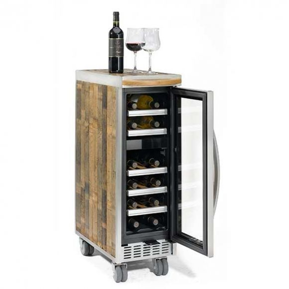 Elegant Wine Fridge Bar Cart