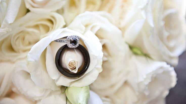 Wedding rings. Black Diamond and Tungsten