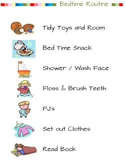Kids Bedtime Routine List . A Little Bit of Everything: July 2013  http://sandyslittlebitofeverything.blogspot.ca/