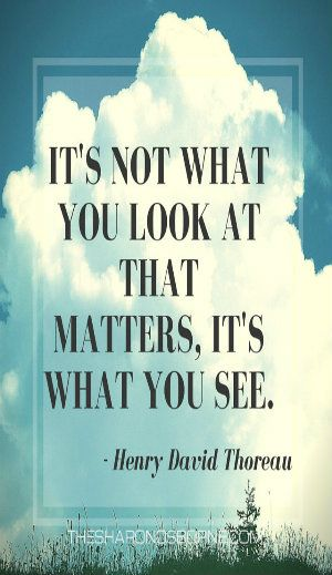 Quote - It's not what you look at that matters, it's what you see. Henry David…