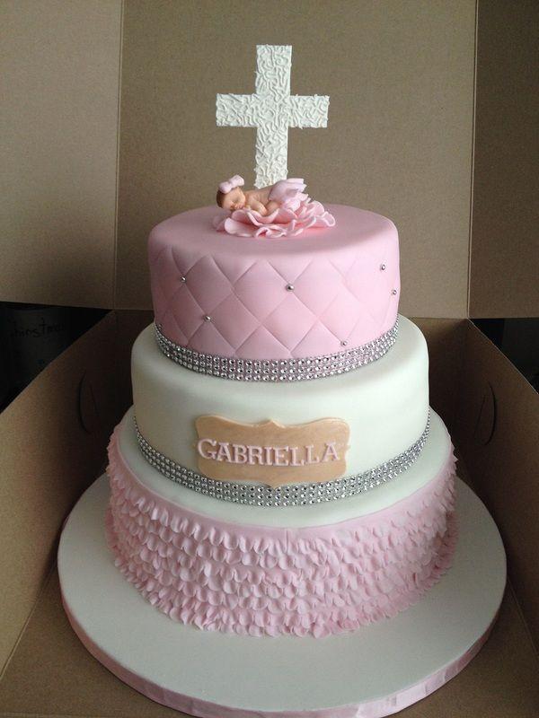 Christening Cake Topper Cross
