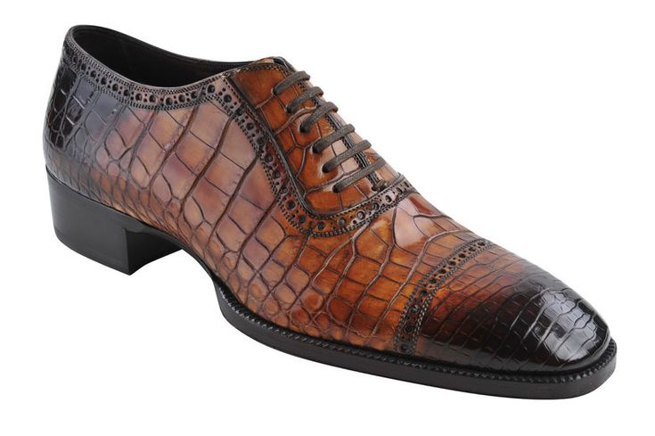 Tom Ford Shoes Men  Crocodile Low Top Alligator leather  44.5 Oxford  Brown #TomFord #BusinessShoe