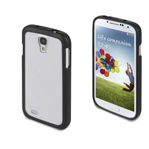 Funda Bimat Goma-ABS Negra + protector de pantalla Samsung I9500 Galaxy S4 Muvit