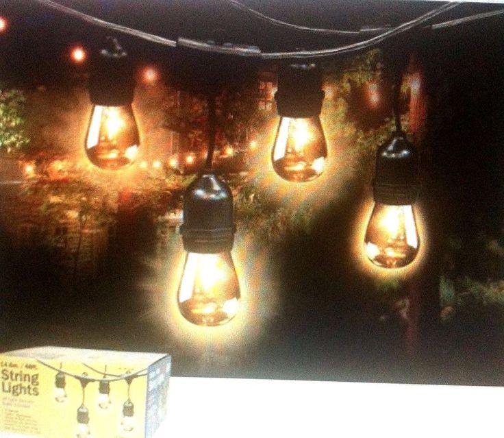 Feit String Lights Ideas : Feit Outdoor Weatherproof String Light Set 48ft / 24 Light Sockets w/ 36 Bulbs Bulbs, Lights ...
