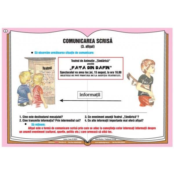 Plansa Comunicarea verbala - comunicarea scrisa - afisul