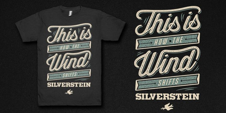 """""""Silverstein - Type"""" t-shirt design by guentergoetzer"""