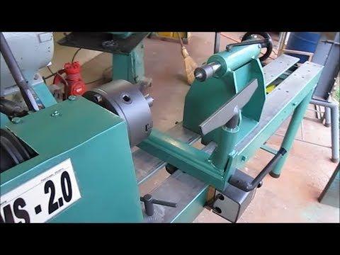 Torno para madeira - modelo DMS 2.0 - YouTube