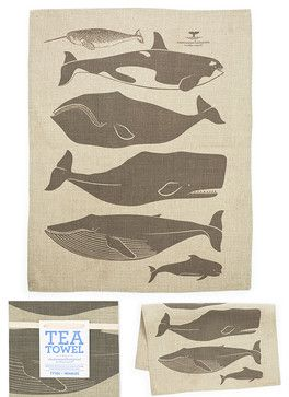 Whales Towel contemporary dishtowels