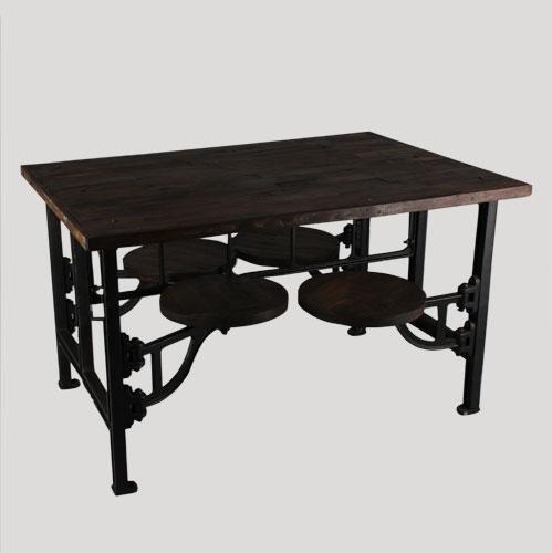 Mesa de comedor con cuatro taburetes :: Kulunka Deco Shop. Tienda de decoración y Mueble
