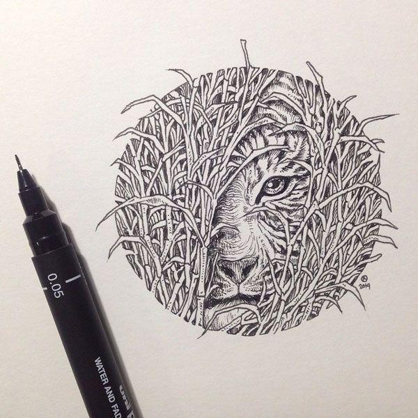 De superbes illustrations à la main par Kerby Rosanes