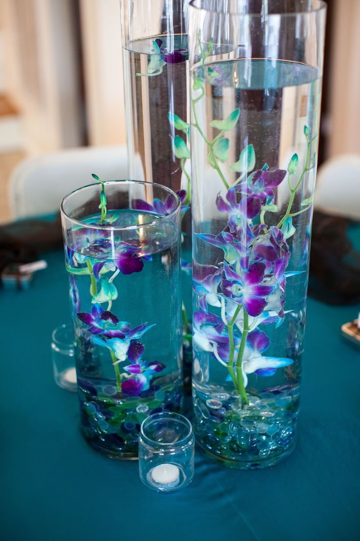 Best blue orchid centerpieces ideas on pinterest