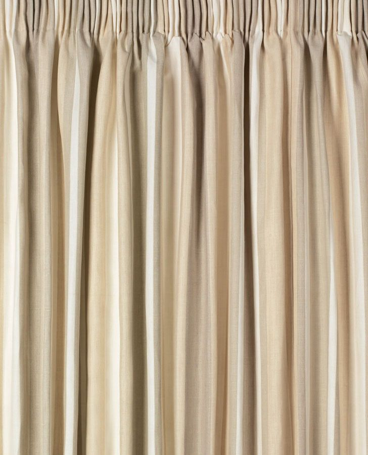 Awning Stripe Natural Pencil Pleat Ready Made Curtains #lauraashleyhome