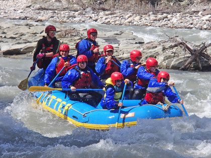 Rafting on the Upper Red Deer River