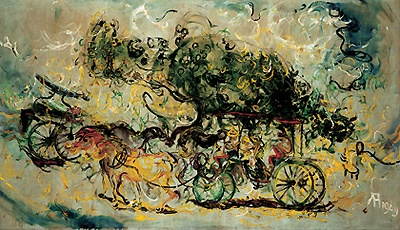 Affandi's Painting #1. Affandi is an Indonesian Painter