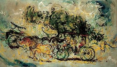 Affandi's Painting #1. Affandi is an Indonesian Painter