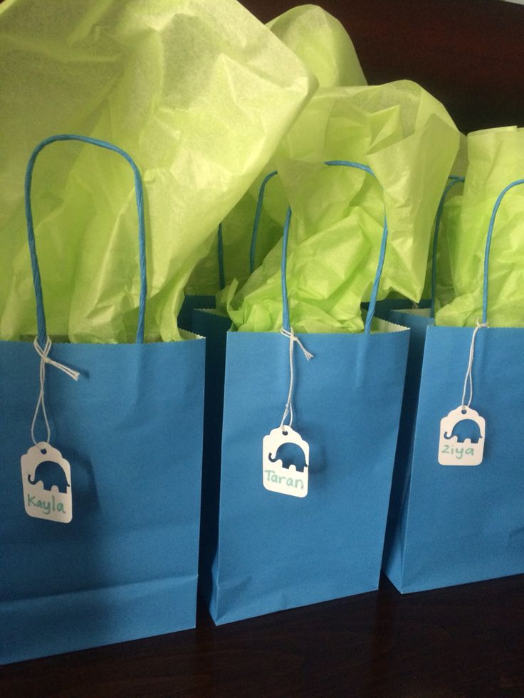 Loot bags for first birthday