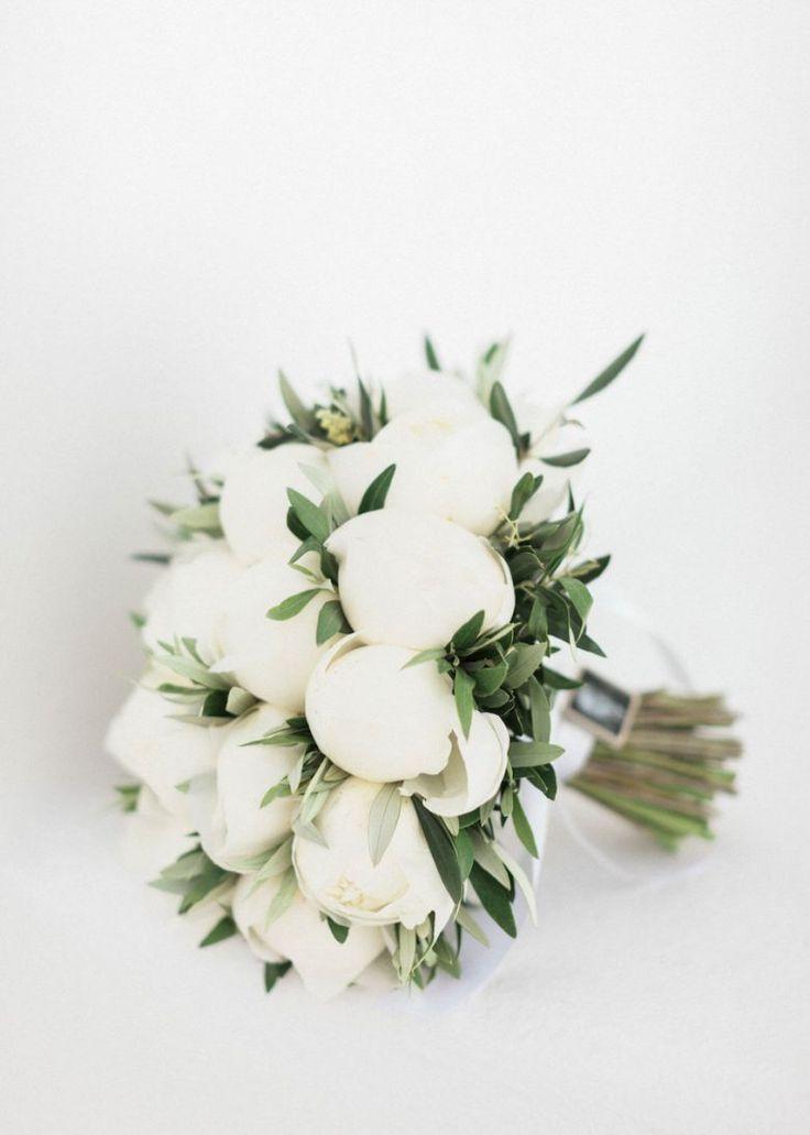 White Peony Wedding Bouquet Stunning Destination Wedding In