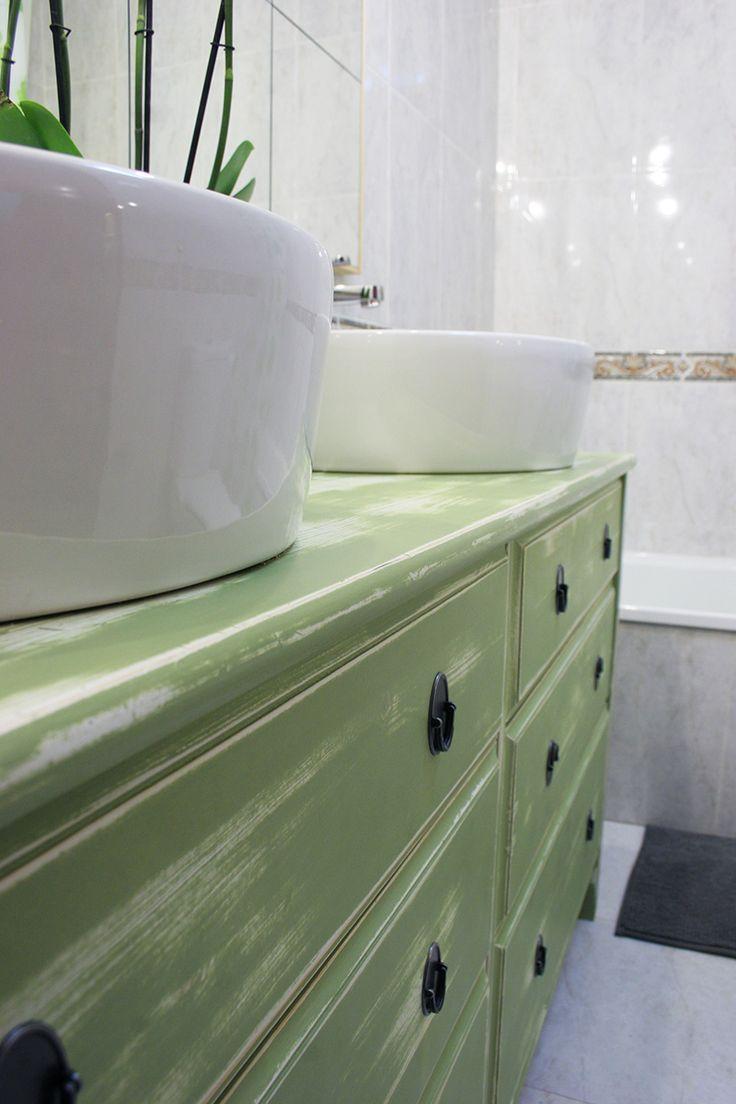 ikea hacks de cmoda a lavabo doble para el bao decorar en familia