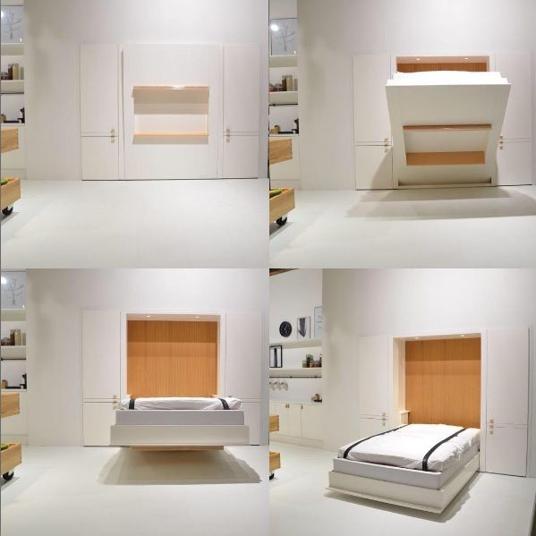 swedish asante arkitekter and we showed it at stockholm furniture fair in 2015 the bed cabinet has several functions in order to meet a compact living