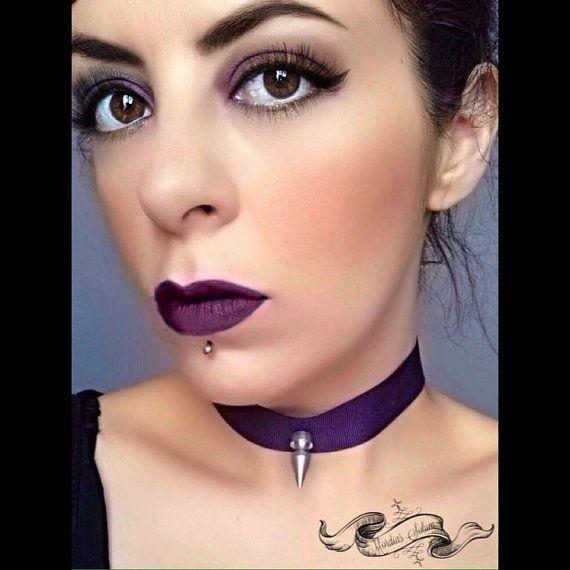 Industrial Gothic Purple Gros Grain Ribbon Killer by MordiasSolum