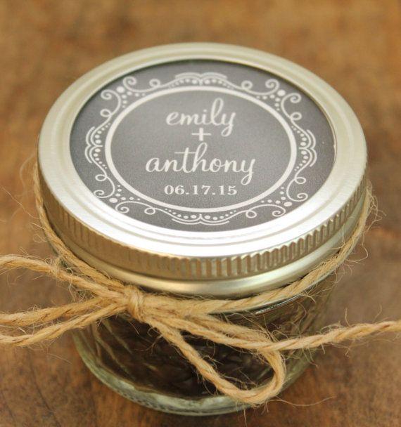 Set of 24  4 oz Mason Jar Wedding Favors  by thefavorbox on Etsy, $66.00