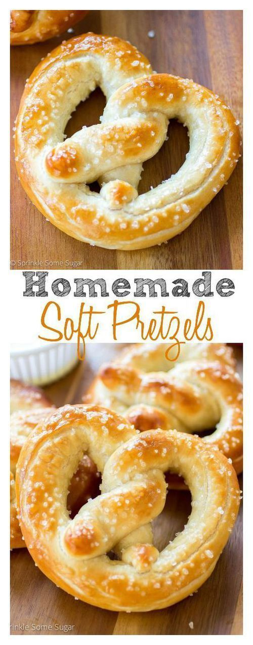Homemade Soft Pretzels.