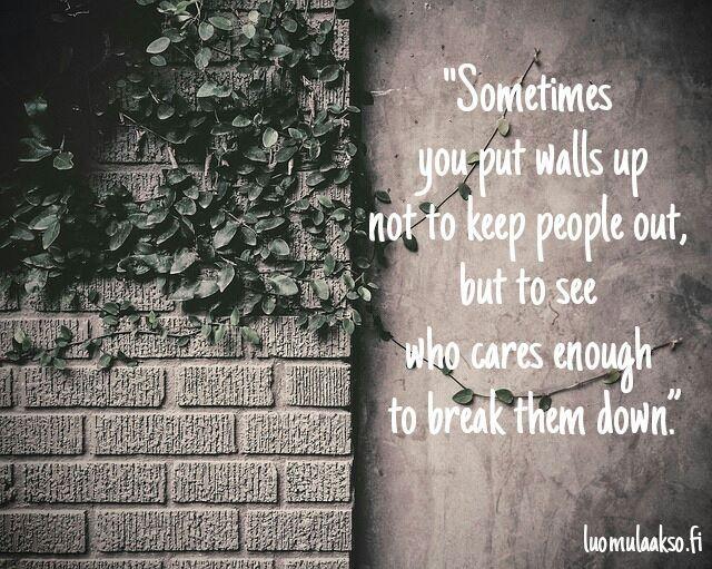 Who cares enough...