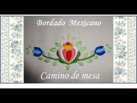 05 ♥ Bordado Mexicano ♥ Punto yerba, yerba con relleno y pespunte ♥ - YouTube