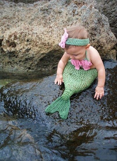 mermaid costume crochet baby. so cute!