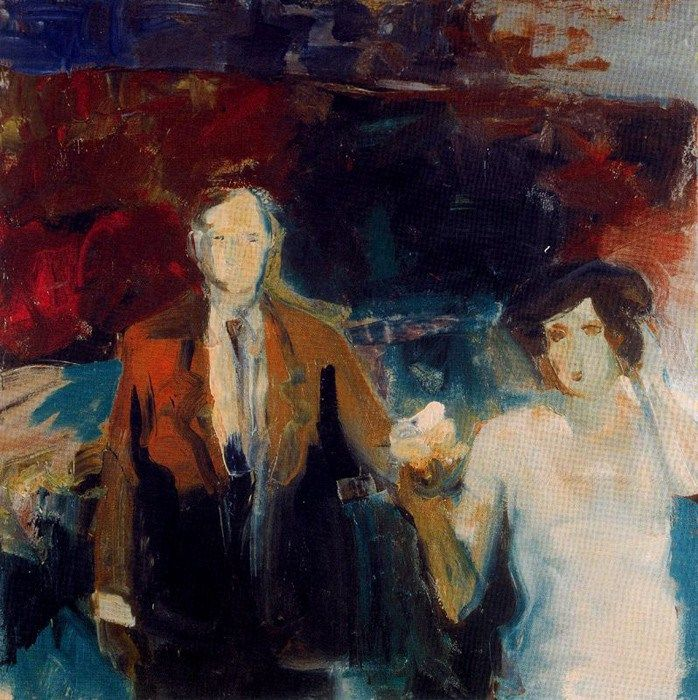 Elmer Bischoff (American, Bay Area Figurative Movement, 1916–1991): Couple, c. 1960.