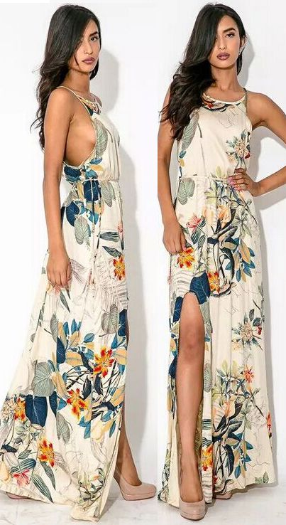 We're doing everything we can to get you flirting this summer, and this dress is a good example. It gives an awesome silhouette and shows your beauty completely. Find it at OASAP!