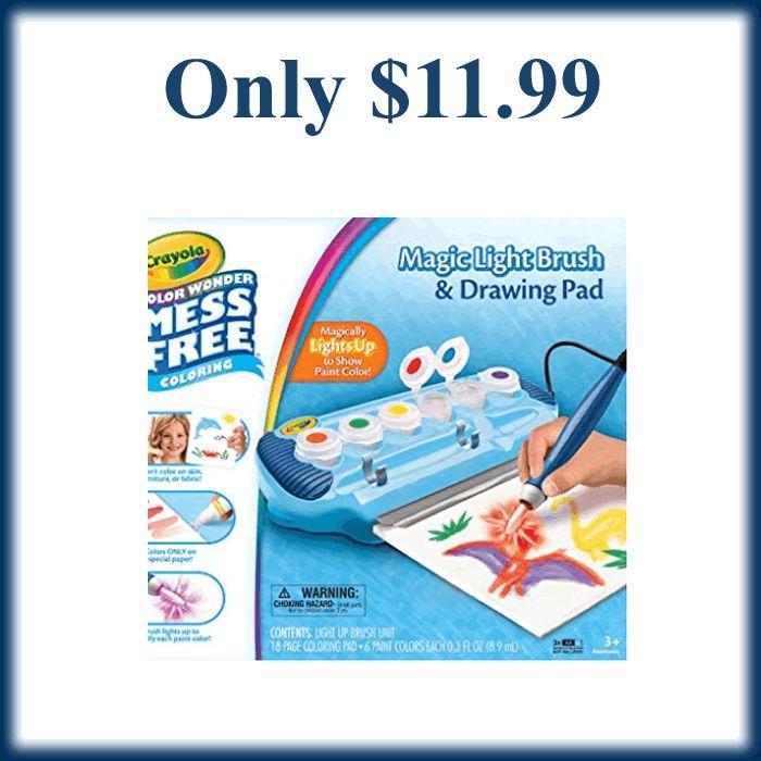 Amazon - Crayola Color Wonder Magic Light Brush & Drawing Pad Only $11.99 - https://dealmama.com/2017/12/amazon-crayola-color-wonder-magic-light-brush-drawing-pad-11-99/