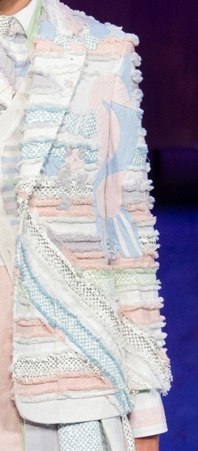 OUTFIT Inspiration: | Wear Pastels knitwear. | Thom Browne Spring 2016 RTW #knitwear