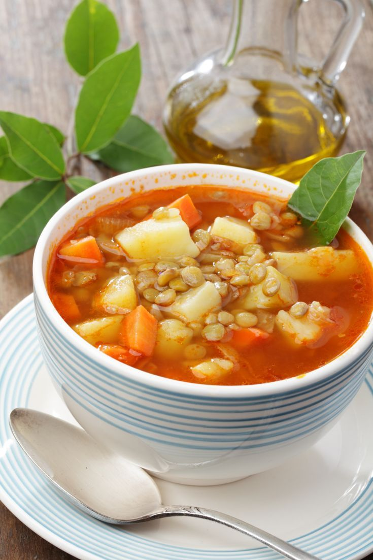 Šošovicová polievka so zeleninou